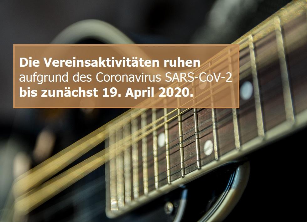 Mandolinenverein 1924 Nauborn e.V. pausiert Vereinsaktivitäten bis zunächst 19. April 2020 aufgrund von SARS-CoV-2